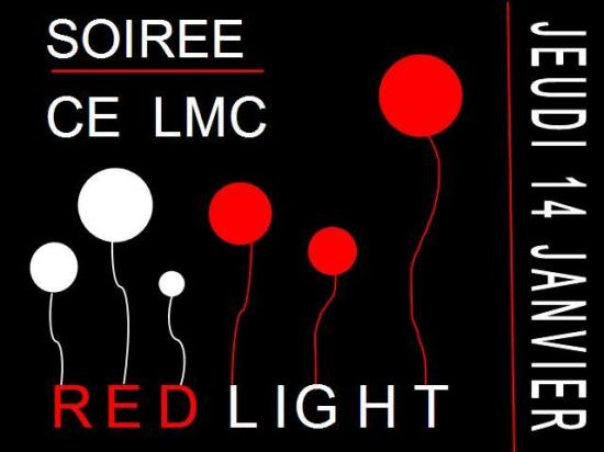 Flyer Soirée Red Light